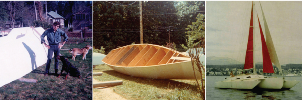 'Freya' Cutter Rigged Cold Molded Trimaran Built by Harold Aune in 1968