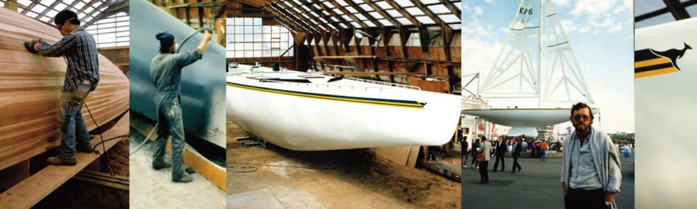 The 12 Meter Sailing Yacht Australia II built by Harold Aune for the govt of Australia at Expo 86